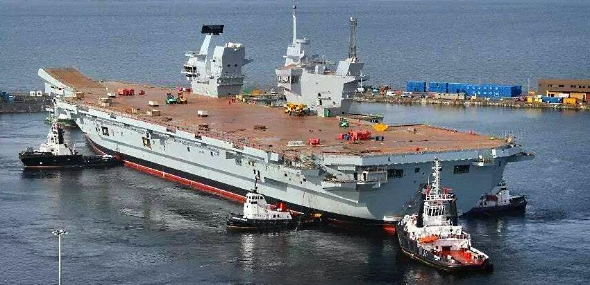 HMS QUEEN ELIZABETH undocks July 2014 - Teamwork is the key to success