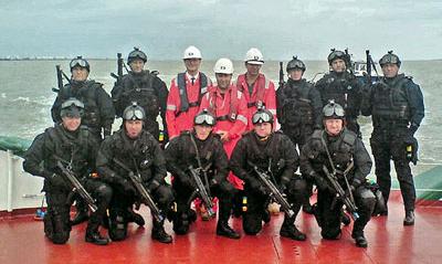 Metropolitan Police onboard MT CORRINGHAM, Anti Terrorist Training, 2006