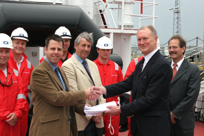 BP Shipping/Targe transfer of flag ceremony 2005